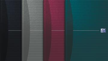 Oxford OFFICE Essentials cahier rembordé, 192 pages, ft A4, quadrillé 5 mm
