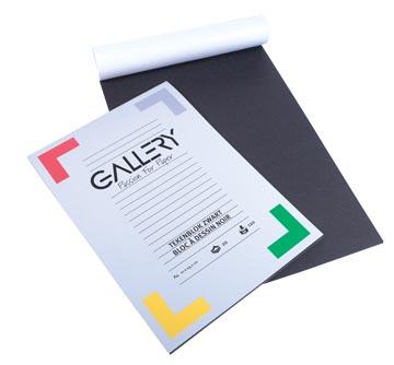 Gallery papier à dessin, noir, ft 21 x 29,7 cm (A4)