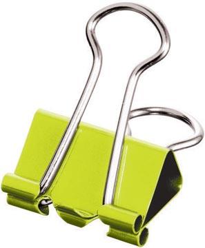 Maped clip foldback taille petite, 19 mm en boîte distributrice, 10 pièces: vert, bleu, violet, jaune,...
