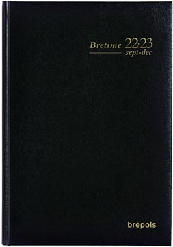 Brepols journal de classe Bretime Lima, noir, 2021-2022