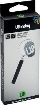 Wonday loupe, diamètre: 60 mm, grossit 3 fois, dans un etui