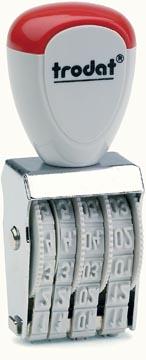 Trodat tampon dateur Classic Line 4 mm, mois en chiffres arabes
