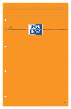 Oxford Orange Pads bloc-notes, ft A4+, quadrillé 5 mm , 160 feuilles, perforation 4 trous