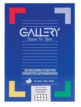 Gallery étiquettes blanches, ft 105 x 74 mm (l x h), coins carrés, boîte de 800 étiquettes