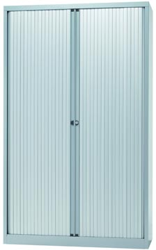 Bisley armoire à rideaux, ft 198 x 120 x 43 cm (h x l x p), 4 tablettes, argenté