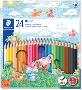 Staedtler crayons de couleur Noris Club, étui de 24 pièces