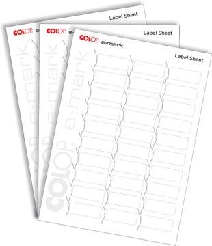 Colop E-mark étiquettes, 10 x 30 étiquettes