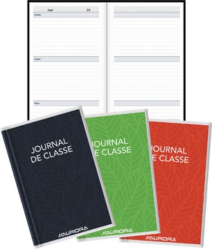 Aurora journal de classe Bur-O-Class ft 10,5 x 16,5 cm, 224 pages, perpétuel