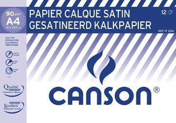 Canson papier calque, ft 21 x 29,7 cm (A4), étui de 12 feuilles