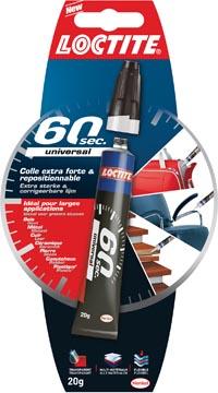 Loctite colle-tout 60 sec Universal, flacon de 20 g, sous blister