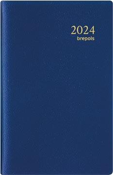 Brepols agenda Delta Genova 6 langues, bleu 2022