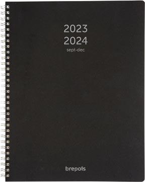 Brepols journal de classe A4 Polyprop, noir, 2021-2022
