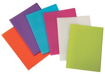 Beautone protège documents, A4, 20 pochettes, en couleurs assorties