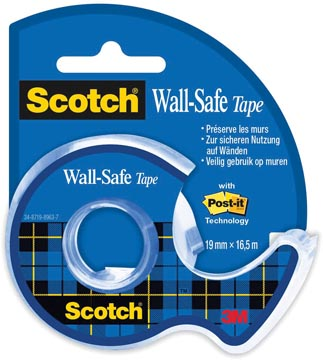 Scotch Wall-Safe tape ft 19 mm x 16,5 m, sous blister