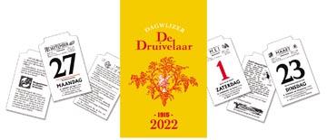 Bloc éphéméride De Druivelaar 2022, présentoir de 30 pièces