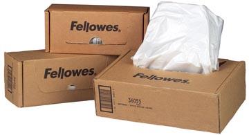 Fellowes sacs de 53-75 liter pour destructeurs, paquet de 50 sacs