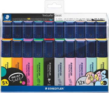 Staedtler surligneur Textsurfer Classic, étui avec 20 couleurs vintage et pastel