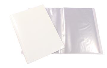Beautone protège documents personnalisable, A4, 10 pochettes, blanc