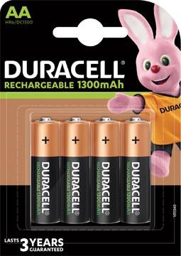 Duracell piles Recharge Plus, AA, blister 4 pièces