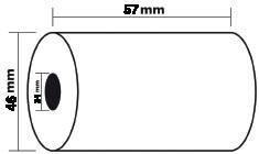 Exacompta bobine thermique, ft 57 mm, diamètre +-46 mm, mandrin 12 mm, longueur 24 m, pack de 5 rouleaux