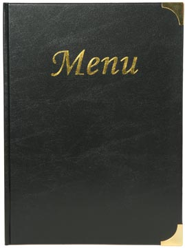Securit menu Basic ft A4, noir