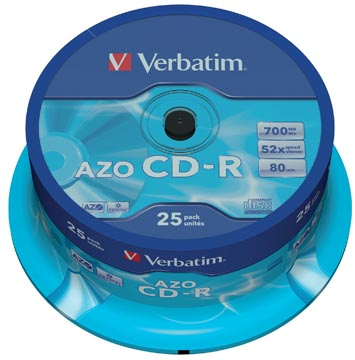 Verbatim CD enregistrable, spindle de 25 pièces