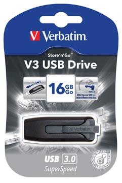 Verbatim clé USB 3.0 V3, 16 GB, noir