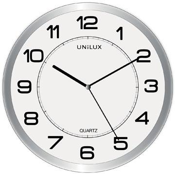 Unilux horloge Magnet, diamètre 30,5 cm, gris et wit