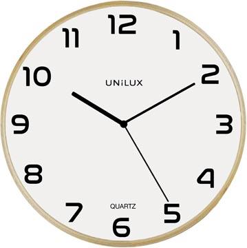 Unilux horloge Baltic, diamètre 30,5 cm, bois en blanc