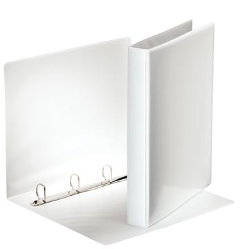 Esselte classeur à anneaux personnalisable, dos de 4,4 cm, 4 anneaux en D de 25 mm, blanc
