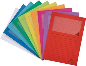 Exacompta pochette coin à fenêtre Forever, paquet de 10 pièces, couleurs assorties