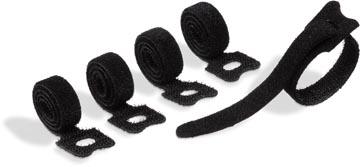 Durable Cavoline Grip Tie attache-câble auto-grippant, noir, paquet de 5 pièces