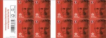 BPost timbre national, Roi Philippe, paquet de 100 pièces, non prior