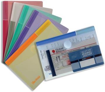 Tarifold pochette-documents Collection Color pour ft A6 (165 x 109 mm), paquet de 6 pièces