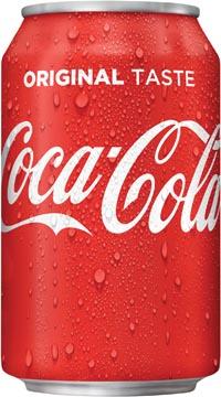 Coca-Cola boisson rafraîchissante, canette de 33 cl, paquet de 30 pièces