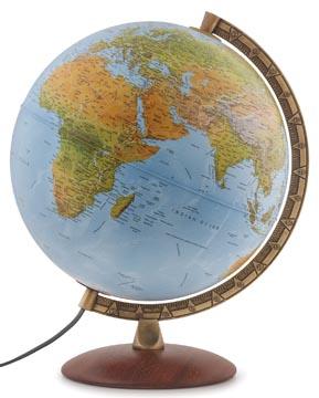 Globe Astra, à double effet: en relief et politique, diamètre 30 cm, français