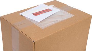 Cleverpack pochette documents, Documents Enclosed, ft 175 x 115 mm, paquet de 100 pièces