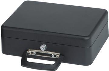 Maul coffrret à monnaie, ft 30 x 25,8 x 9 cm, noir