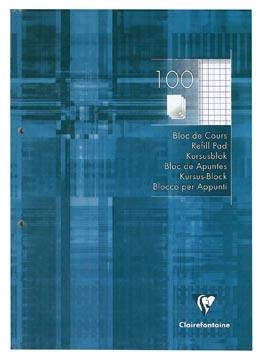 Clairefontaine bloc de cours, quadrillé, 5 mm