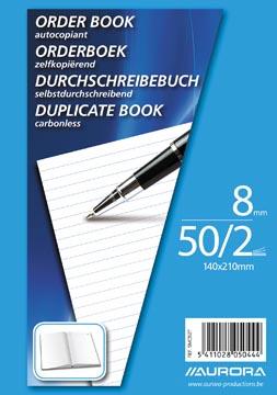 Aurora orderbook, ft A5, 2 x 50 feuilles