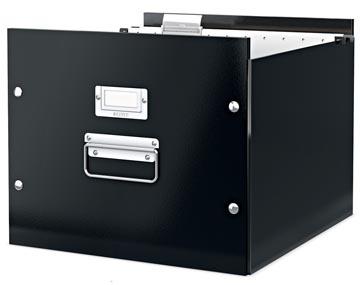Leitz Boîte pour dossiers suspendus Click & Store noir