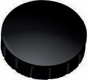 Maul aimant Solid, diamètre 24 mm x 8 mm, noir, boîte de 10 pièces