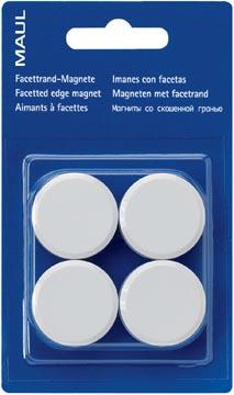 Maul aimant MAULsolid, diamètre 20 mm, blanc, blister de 8 pièces