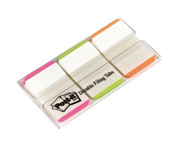 Post-it Index Strong, ft 25,4 x 38 mm, blanc avec bord coloré, 3 couleurs, 22 cavaliers par couleur