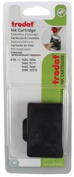 Trodat tampon encreur de rechange noir, pour cachet 5460/5460L/5204/5206/5117, blister de 2 pièces