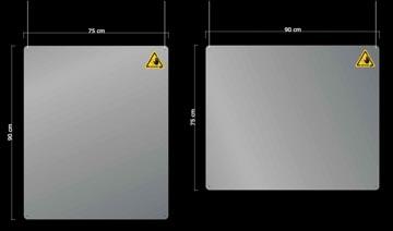 Jalema écran de protection, transparent, à suspendre, ft 90 x 75 cm