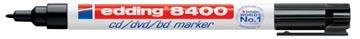 Edding marqueur permanent pour CD/DVD/BD, e-8400, noir