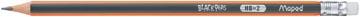 Maped crayon Black'Peps, HB avec gomme