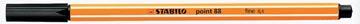 STABILO fineliner point 88, noir