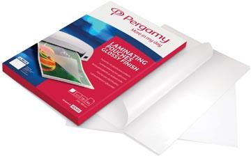 Pergamy pochette à plastifier, ft 54 x 86 mm, 250 microns (2 x 125 microns), paquet de 100 pièces